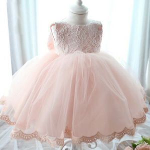 Lace-Flower-Tulle-Baby-Girl-Dress-Wedding-Easter-Infant-Bridesmaid-Baptism-0-15M