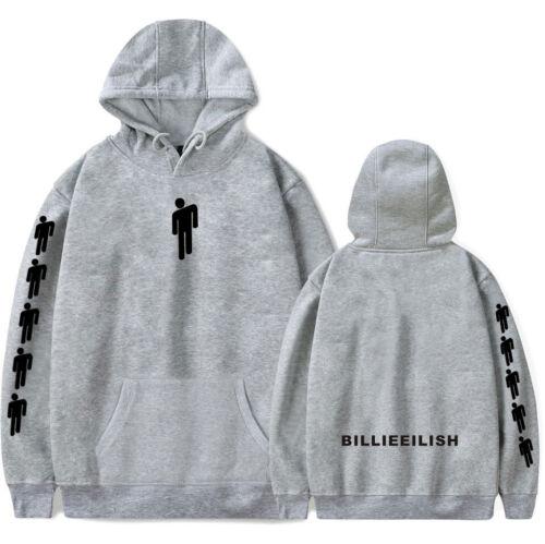 Billie Eilish Hoodie Print Printed Sweatshirt Cartoon Pattern Cotton Pullover UK