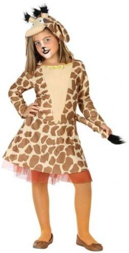 Girls Giraffe Safari Animal World Book Day Halloween Fancy Dress Costume Outfit