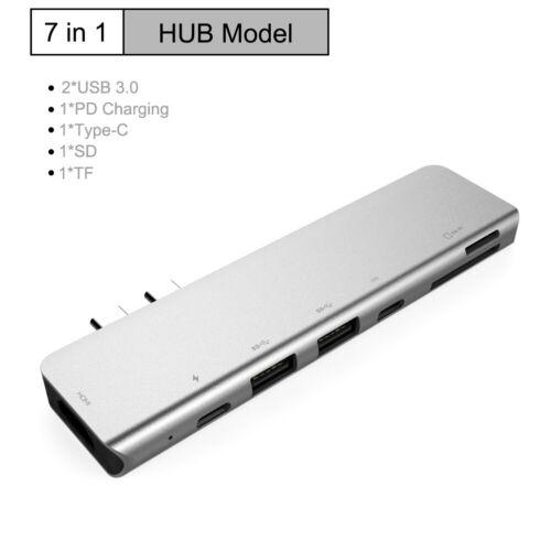 USB C 8in1 USB-C To Type-C USB Multi 3.0 HDMI RJ45 Ethernet Micro SDTF OTG Hub U