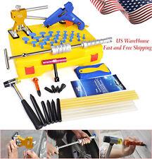 US Body Paintless Dent Repair PDR Tools kits Slide Hammer Dent Lifter Box Hail