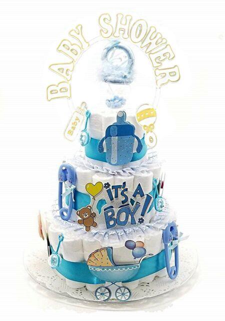 Girl Monkey Baby Shower Diaper Cake Kit 25pc