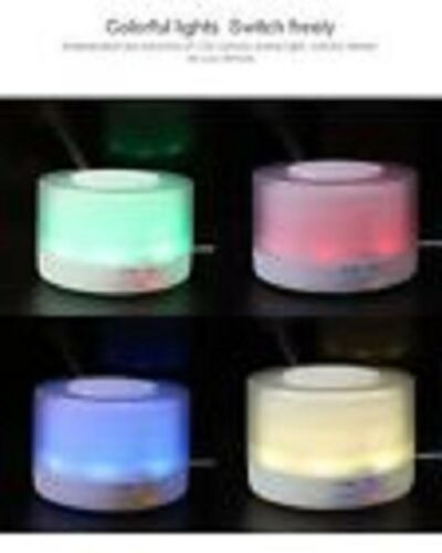 UMIDIFICATORE LED RGB DIFFUSORE AROMI 500ML AROMATERAPIA DEPURATORE ARIA RELAX