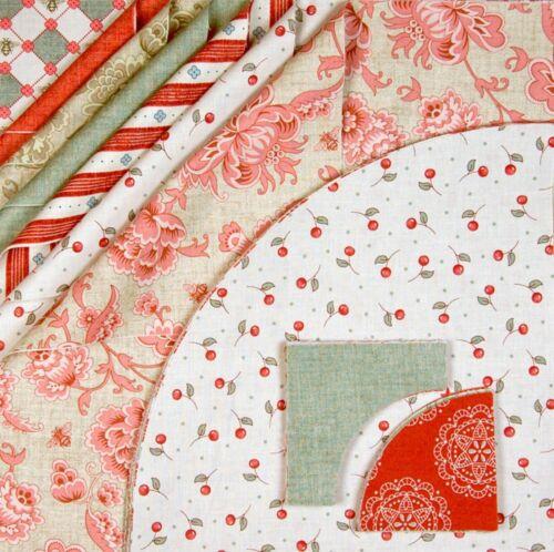 Fabric pre cut ready to sew drunkard/'s path quilt kit Girl Fabrics 1