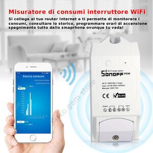Domotica misuratore consumi elettrici watt meter wifi interruttore gestione app ebay - Impianto wi fi per casa ...