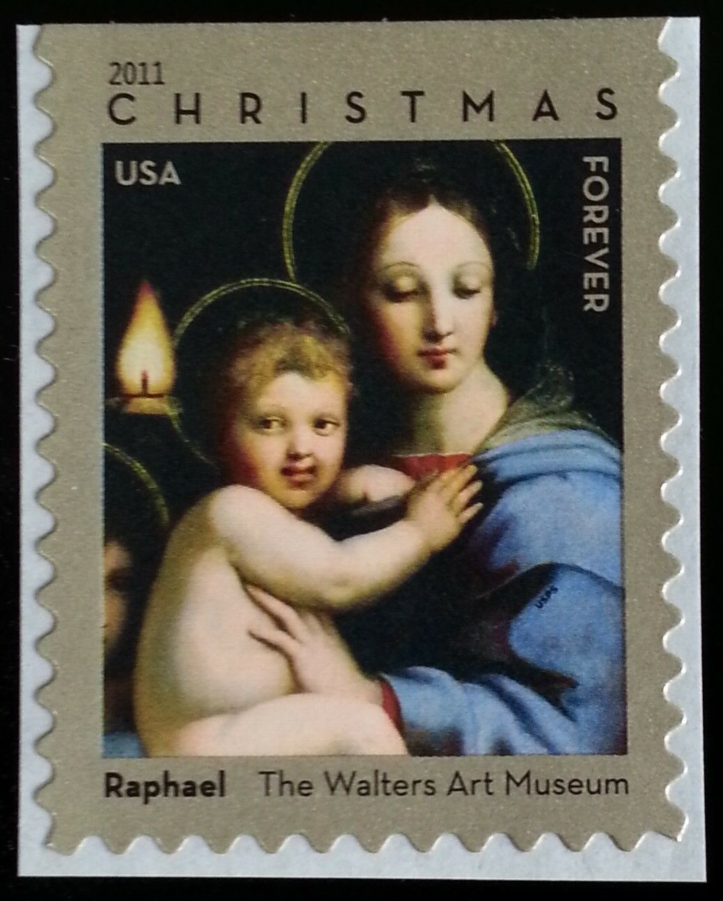 2011 44c Raphael Madonna & Child, Christmas Scott 4570