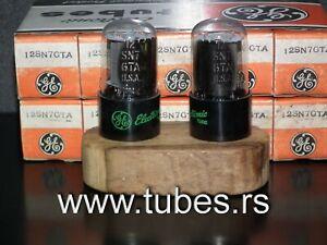 Rare-Matched-Pair-General-Electric-12SN7GTA-NOS-NIB