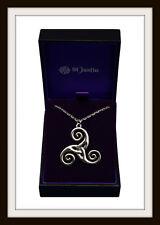 Espiral Celta Triskelion Colgante de Estaño ~ de St Justin Libre P&P ~ hecho en el Reino Unido