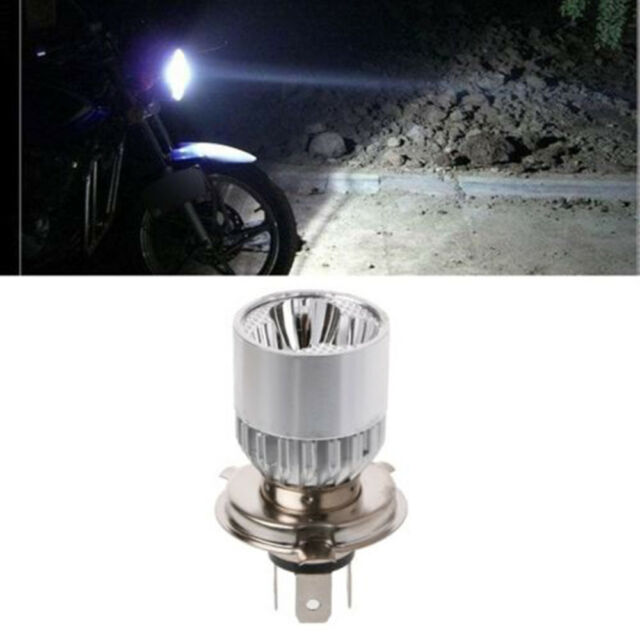 1 Pc Durable Universal DC 12-80V H4 3 LED Motorcycle Headlight Bulb Scooter #