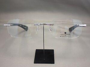 Original GOLD&WOOD Brille Brillenfassung R13 Farbe 16 silber rot lila WM0wi0H6a
