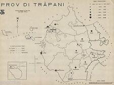 Provincia di Trapani:Comuni nel 1938.Favignana,Pantelleria.Anno XVI Era Fascista