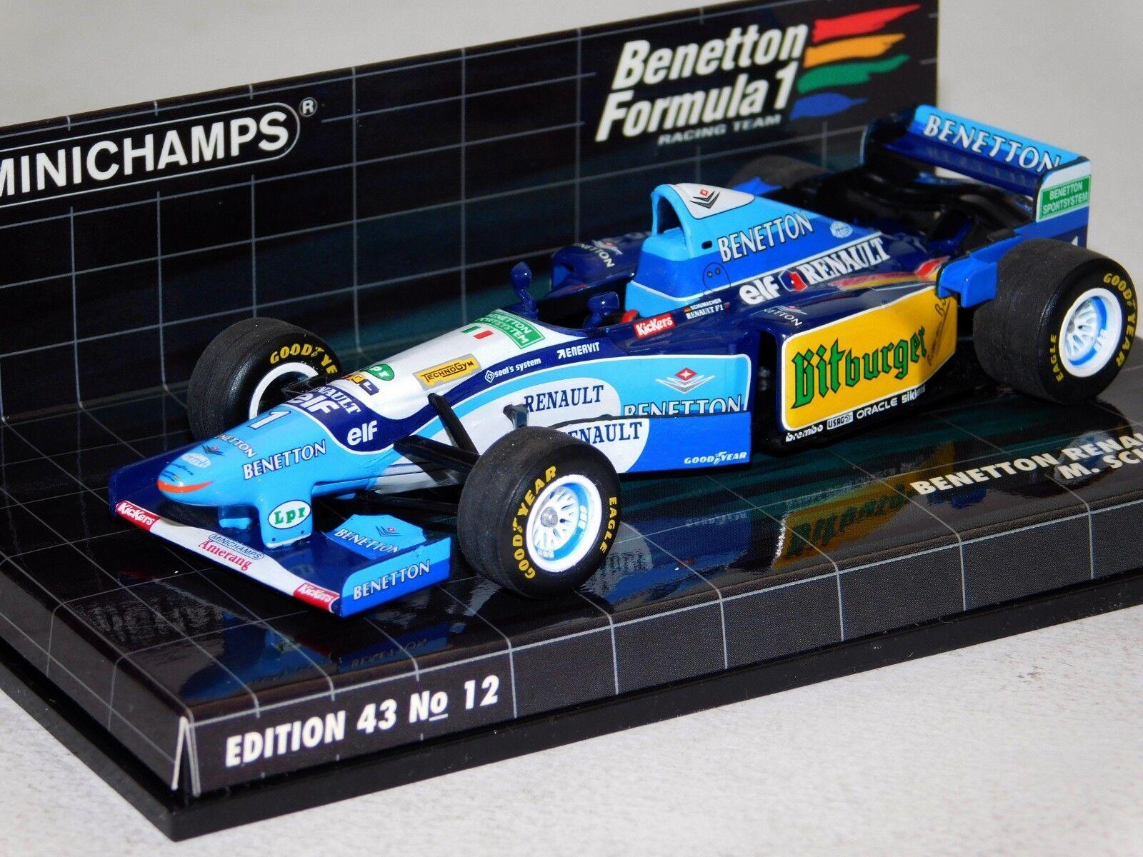 BENETTON RENAULT B195  1 M. SCHUMACHER 1995 F1 MINICHAMPS 400950001 1 43