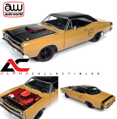 AUTOWORLD AMM1172 1 18 1969.5 DODGE SUPER BEE BUTTERSCOTCH