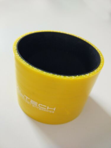 """ID 102mm 4/"""" to 4/"""" Straight Silicone Coupler Hose Intercooler Joiner Pipe Yellow"""
