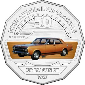 2017-Australia-50c-Coloured-Unc-Coin-1967-XR-Falcon-GT-Classic-FORD-Car