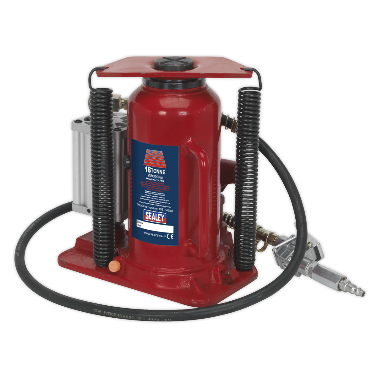 Air Operated Bottle Jack 18tonne   SEALEY YAJ18S by Sealey   New
