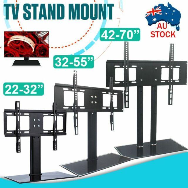 Adjustable Universal Desktop Mount Stand Bracket Monitor LCD LED Plasma TV