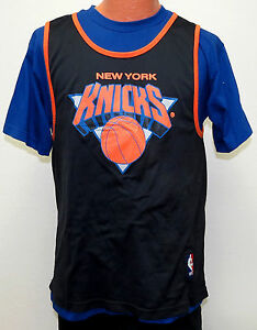wholesale dealer c3034 e57c3 Details about vtg NEW YORK KNICKS STARTER Blue T-shirt Inside Black JERSEY  MED 80s/90s ny nba