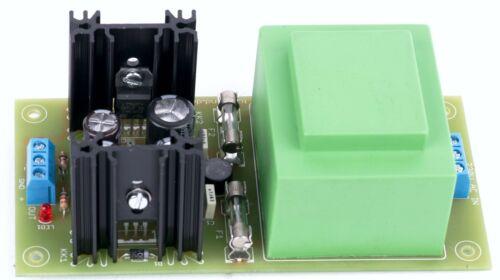 // 12V 2*350 mA Bausatz Symmetrisches Audio Netzteil mit EI 54 16VA Trafo