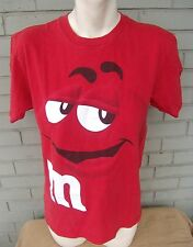 M & M's Chocolate Candy Red Holiday Color T-Shirt Size Medium Mars