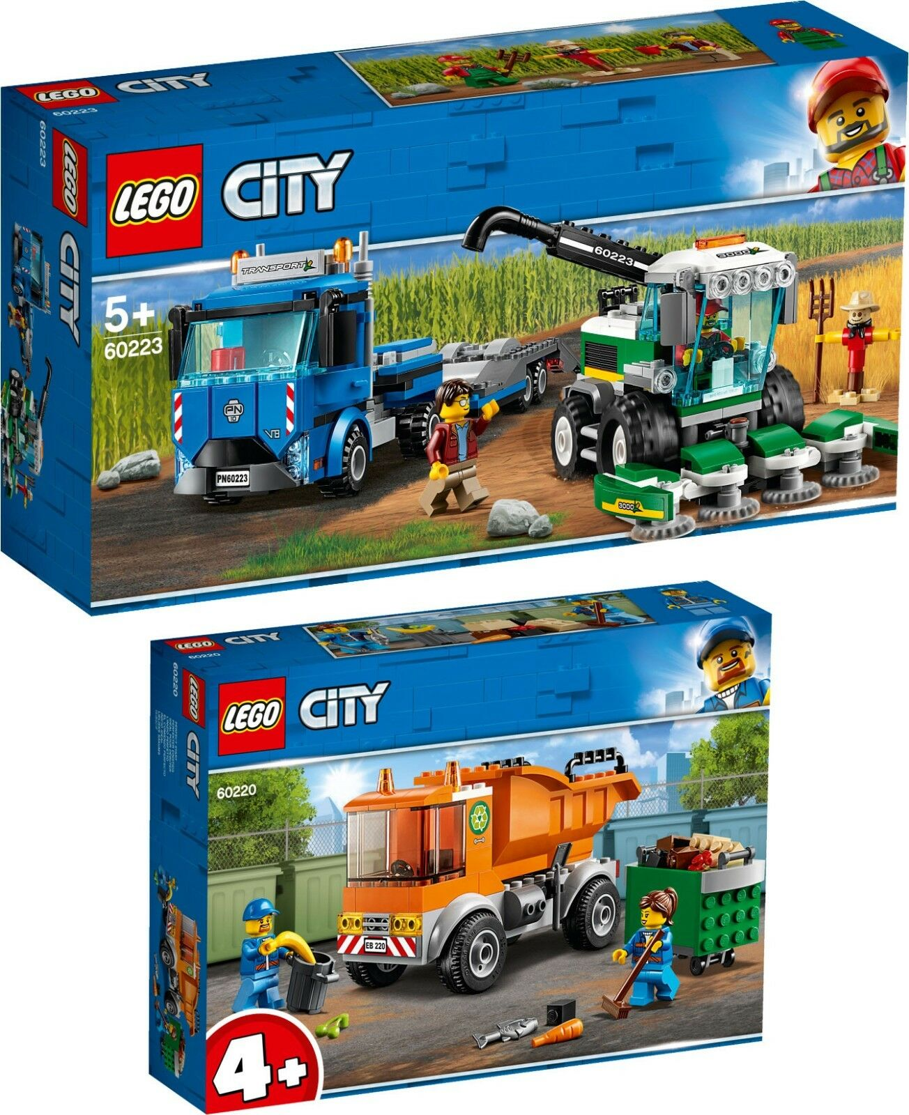 Lego ® City 60223 60220 Transporter for Combine Harvester Garbage Collection N2 19