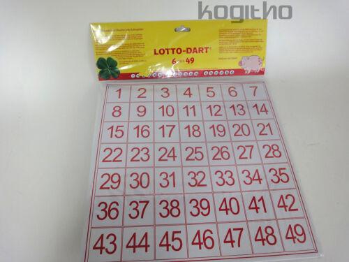 Dartpfeile Lotto Glücksspiel Zufall Dart Glück Lotto-Dart Set inkl