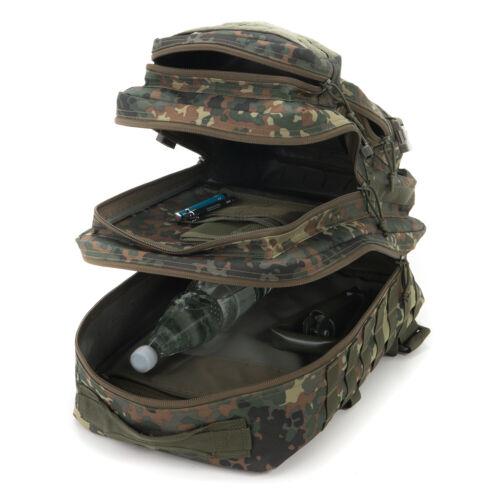 Army Assault Pack Zaino Bw 50l Borsa Esercito Confezione Sacchetto Flecktarn