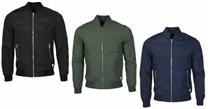 Jack-amp-Jones-Men-039-s-Pacific-Biker-Bomber-Jacket-in-Various-Colours-Sizes-XS-2XL