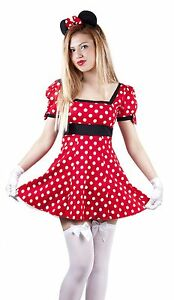 Womens-mini-mouse-fancy-dress-costume-dress-outfit-minnie-039-s-8-10-12-14-16-18-20