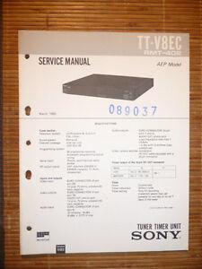 Tv, Video & Audio original SchöN In Farbe Gut Service Manual Für Sony Tt-v8ec