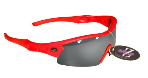 RayZor Red Sports Wrap Sunglasses Uv400 Vented Smoked Mirrored Lens RRP£49 220