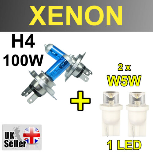 H4 55W XENON SUPER WHITE LIGHT BULBS W5W HEADLIGHT DACIA SANDERO