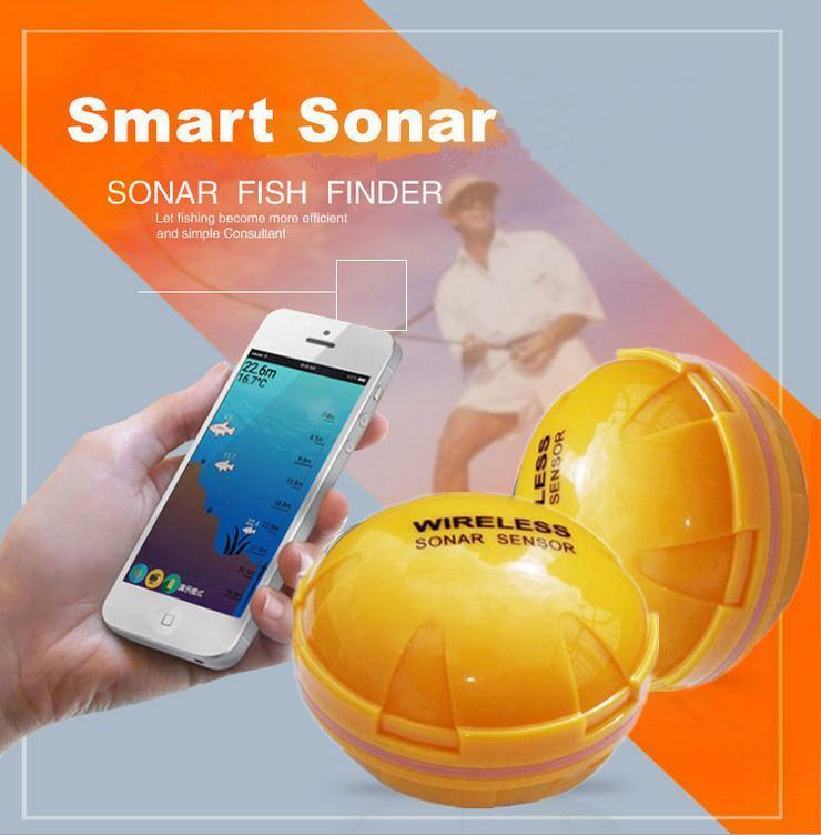 Portable Wireless Blautooth Fish Android Detection Sonar Finder for iOS Android Fish Devices 6f037b