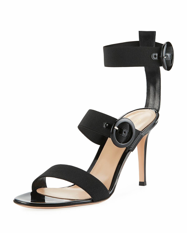 Gianvito Rossi Elastic Elastic Elastic Multi-Strap High Sandals  Dimensione 37 MSRP   895.00 f8f54d