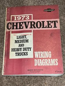 1973 GMC CHEVY TRUCK WIRING DIAGRAMS SHOP SERVICE MANUAL ...