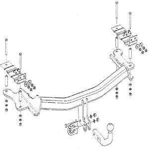 Gancio traino auto Vauxhall Vectra C Due Volumi Berlina 02-09 collo di cigno Rimorchio