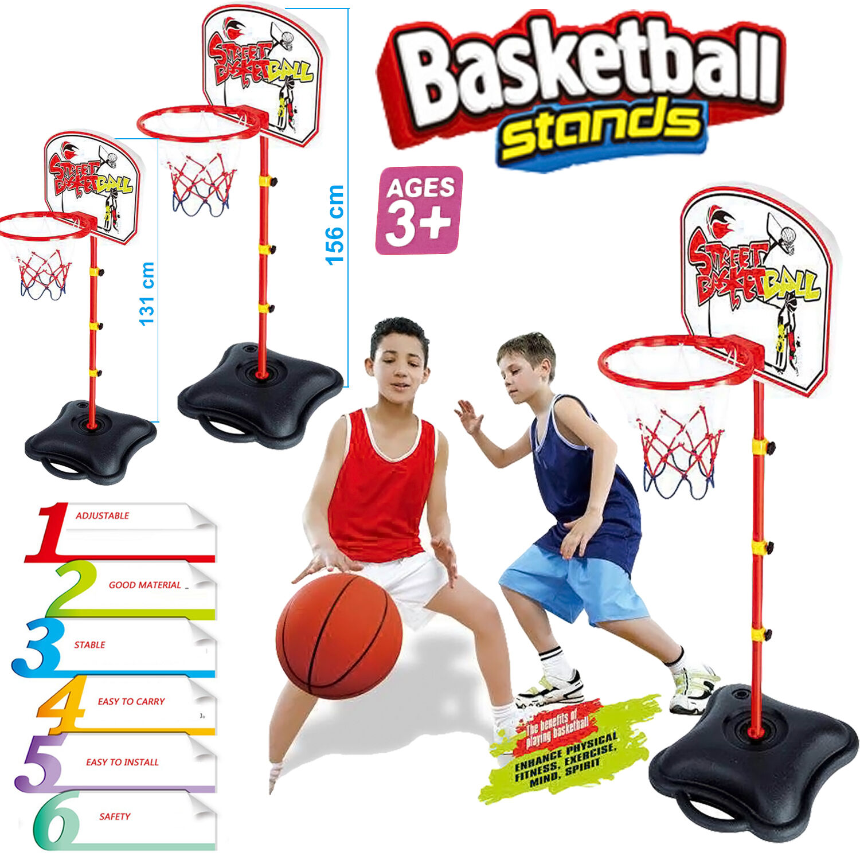 Niños Tamaño Ajustable Soporte De Baloncesto Aro Neto Tablero sistema Pié