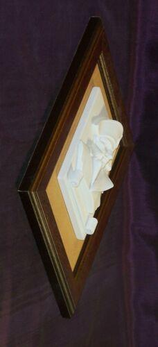 Niedrig Relief Wand Napoleon aus Alabaster IN Rahmen aus Holz