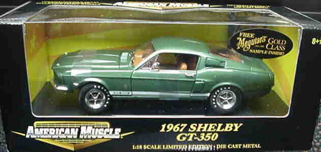 1967 Shelby GT350 verde 1:18 Ertl American Muscle 32560