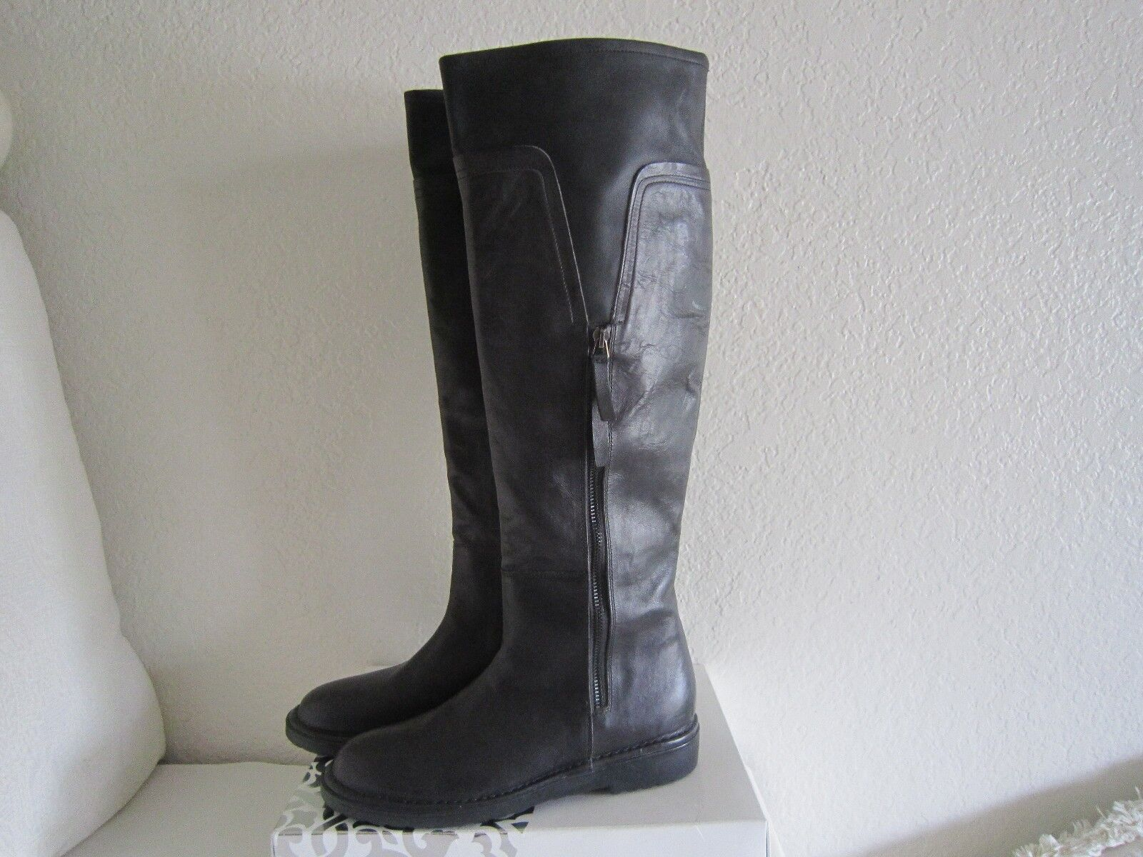 ALBERTO FERMANI FERMANI FERMANI Women's dark brown grey tan Leather Boots Made   Sz 39 US 8 1275f6