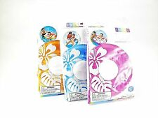 """3 x INTEX 59251 Clear Color Tube Inflatable Swimming Pool Float 36"""" Water Ring"""