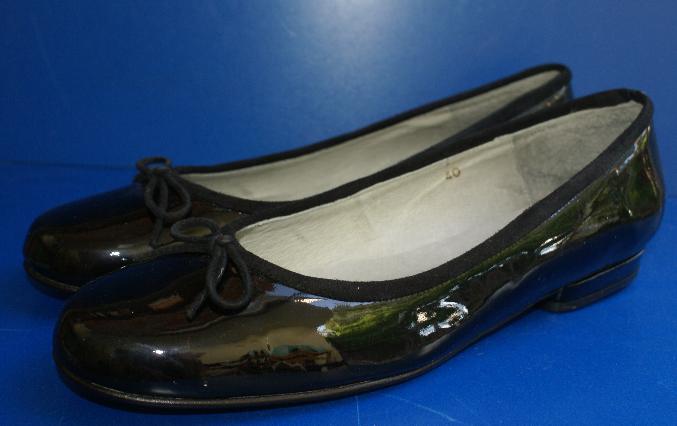 PENELOPE Ballerinas Flats schwarz Lack Echtleder Gr. 40 UK 6,5 wie NEU