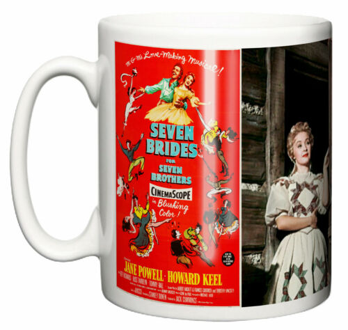 Ceramic Mug Classic Movie Musical Seven Brides for 7 Brothers Poster /& Scene