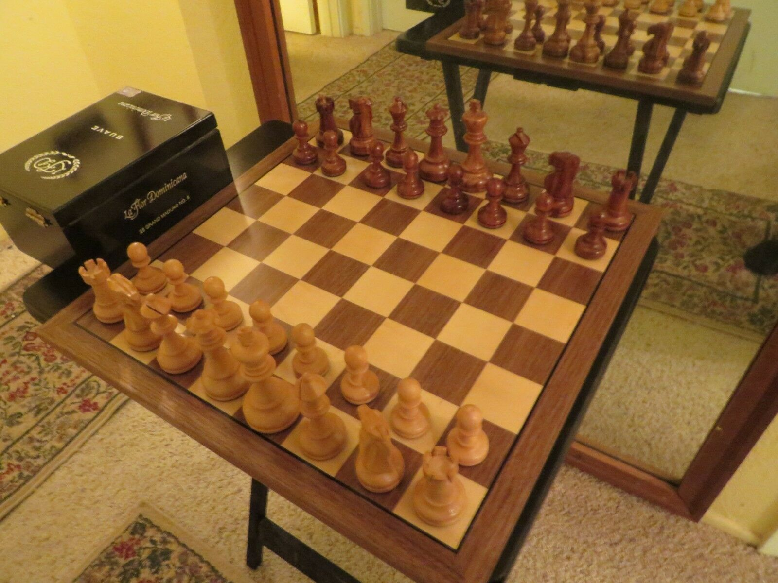 Vintage Allan Troy Chess Set-Indian Rosewood and Boxwood--new set-70