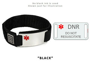 Image Is Loading Dnr And Do Not Resuscitate Medical Id Alert