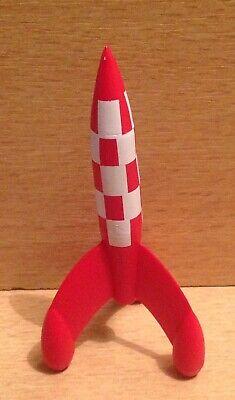 FIGURINE PVC MOULINSART TINTIN KUIFJE HERGE 2011 ROCKET LA FUSEE LUNAIRE