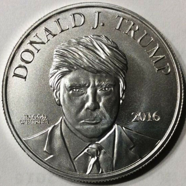 trump silver coin