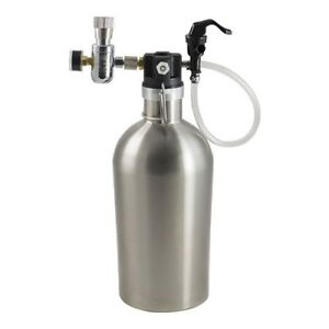 Ultimate-Draft-Growler-Complete-Stainless-Travel-Keg-Double-Wall-Beer-Thermos