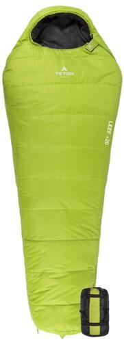 Teton Sports Leef Lightweight Mummy Sleeping Bag; Great For Hiking Backpacking
