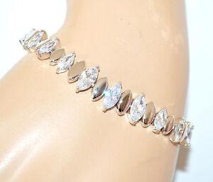 BRACCIALE-TENNIS-argento-donna-cristalli-strass-gocce-sposa-bracelet-armband-A22